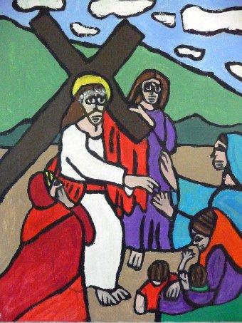Kruiswegstaties in de Domkerk
