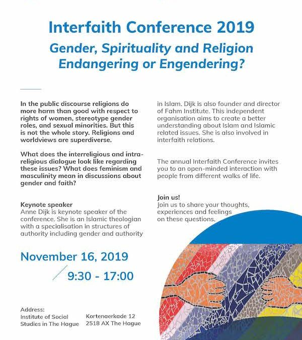Interfaith Conference 2019 Gender, Spirituality and Religion Endangering or Engendering?