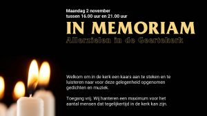 In Memoriam @ Geertekerk